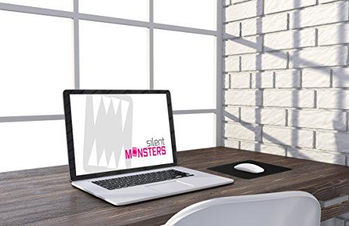 Silent Monsters Gaming und Office Mauspad (250 x 200 x 2 mm, Größe: S) schwarz
