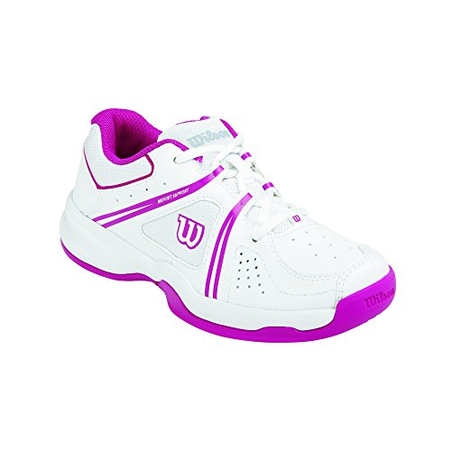 Wilson ENVY JUNIOR, Unisex-Kinder Tennisschuhe, Mehrfarbig (White/White/Fiesta Pink), 37 2/3 EU (4.5 Kinder UK)