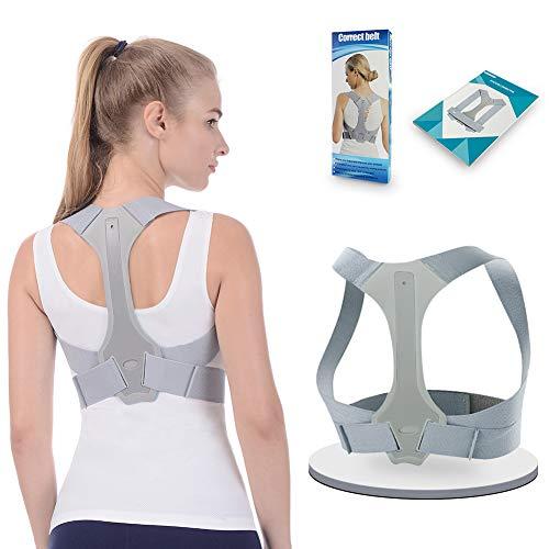 Corrector de Espalda Para Hombre y Mujer Talla Única ANOOPSYCHE Chaleco Corrector de Postura Enderezador de Espalda Transpirable Incluye Faja para Dolor de Espalda (M)