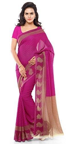 Kashvi sarees Georgette Saree with Blouse Piece (1194_3_multicolour_Free size)
