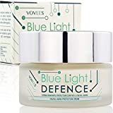 Vovees Blue Light Defence Anti Age - Crème anti-rides protectrice contre le vieillissement de la lumière bleue pour visage, mains, cou - Made in Italy - 50 ml