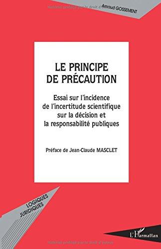 Le principe de précaution. : Essai sur l'incidence de l'incertitude scientifique sur la décision et la responsabilité publiques