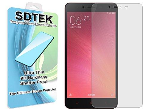 SDTEK Xiaomi Redmi Note 2 Verre Trempé Protecteur d'écran Protection Résistant aux éraflures Glass Screen Protector Vitre Tempered