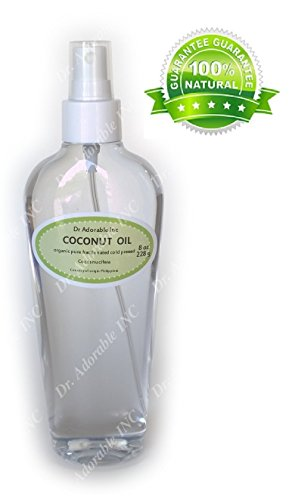 Coconut Fractionated Oil 100 % Pure Skin Care Massage Use Comes with a Sprayer 8 oz