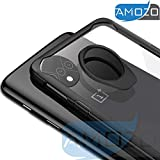 Amozo - Transparent Back Case with Soft Side Bumper, Inside Shock Proof Air Cushion for Drop Protection, Camera Protection Back Case Cover for OnePlus 7T / One Plus 7T (1+7T)