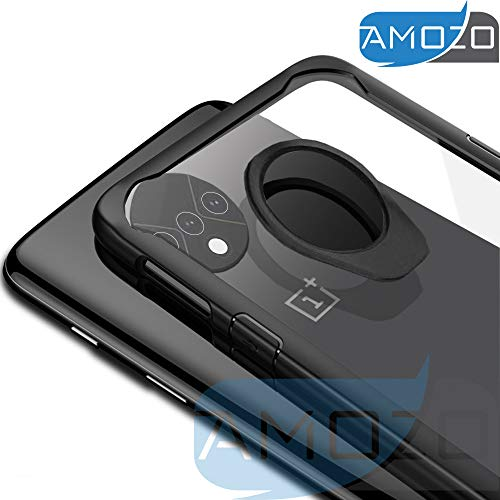 (In Stock) Amozo OnePlus 7T / One Plus 7T Case (1+7T) - Transparent Back with Soft Side Bumper, Inside air Cushion for Drop Protection, Camera Protection Back Case Cover for OnePlus 7T / One Plus 7T (1+7T)