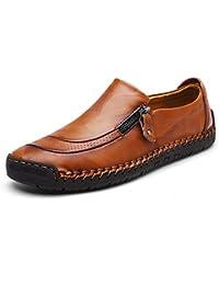 Moodeng Mocasines Hombres Casuales Holgazanes Slip On Plano Cuero Loafers Casual Zapatos de Conducción Zapatillas Zapatos de Vestir