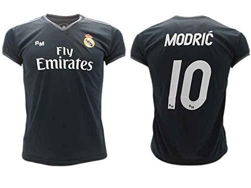 e309e967a T-Shirt Fußball Luka Modric 10 Real Madrid C.F. Zweite Trikot SCHWARZ  Saison 2018-