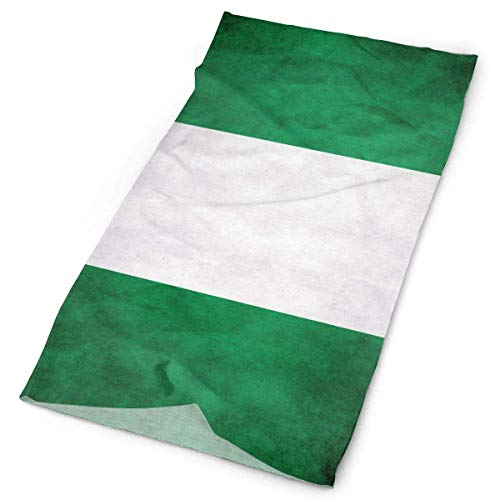 Vintage Nigeria Flag Stripe Stirnband Unisex Headwrap Magic Head Scarf Bandana Headwear Neckerchief Elastic Hairband Casual Headdress Scrunchie Face Mask Neck Gaiter - Custom Beanie Hüte