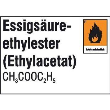 Preisvergleich Produktbild Gefahrstoffetiketten für Laborsubstanzen Essigsäure, selbstklebende Folie, 10,50x7,40cm