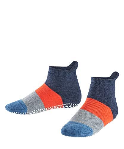 FALKE Kinder Stoppersocken Colour Block - 90% Baumwolle, 1 Paar, Blau (Navy Blue Melange 6490), Größe: 27-30