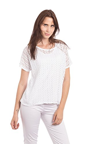 bba74b701323 Abbino 9318J Damen Shirts Tops - Made in Italy - Frühjahr Sommer Basics  Tshirts T Damenshirts