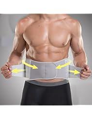 Deportes de la cintura masculina delgada transpirable de baloncesto de fitness correa de enfermería de entrenamiento bandage cinturón ( Color : Gray , Tamaño : 89.1-105.6cm )