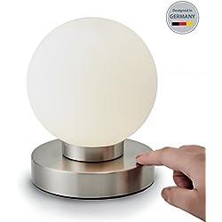 b.k. Luz LED Lámpara de mesa | lámpara de mesa LED | Noche Mesa de luz para dormitorio | Función Touch | IP20