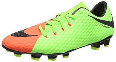 innovative design 1f29e 40d61 Nike Men s s Hypervenom Phelon III FG Football Boots Electric  Green Black-Hyper Orange-