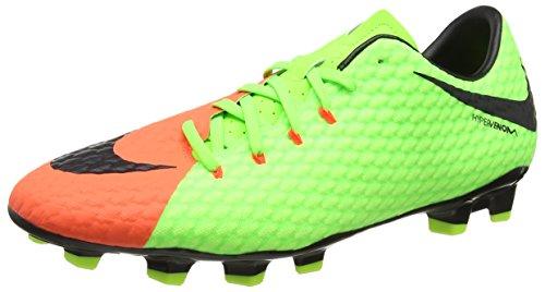 Nike Herren Hypervenom Phelon 3 FG Fußballschuhe, Grün (Elctrc Green/Black-Hyper Orange-Volt), 40 EU (Nike Fg 5)