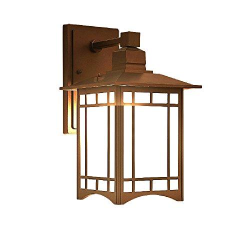 Lampada da parete esterna nordica del balcone della parete impermeabile semplice ed elegante lampada da parete esterna moderna della villa del giardino della villa americana xyjgwbd (color : bronze)