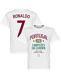Portugal European Champions 2016 Ronaldo Kids T-Shirt – Blanc e48b80ba728