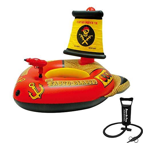 Piraten Wasser Pistole - XZZTX Aufblasbares Piratenschiff mit Wasserpistole, aufblasbares