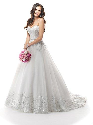 Sposarsi Off spalla Argento ricamo paillettes abito da sposa uka0012 Ivory Formato Personalizzato