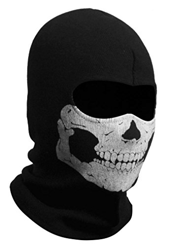 GADA hochwertige Stoff Airsoft Paintball Snowboard Motorrad Ski Schutzmaske Totenkopf Schädel Maske Mütze (Skelett)