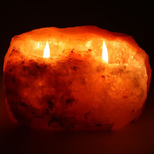 Himalayan Salt doppia Tealight Candle Holder porta candela in sale