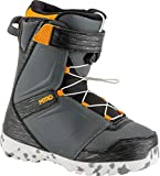 Nitro Snowboards Kinder Droid QLS '19 Snowboardschuhe, Charcoal/Black/Orange, 21.0