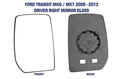 Transit Mirror Glass MK6 & MK7 2000 - 2013 Manual Not Heated Drivers Side Ford