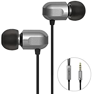GGMM Earphones, In ear Earbuds Metallic Headphones with Microphone - High Resolution, Heavy Bass, Noise Isolating, Pure Sound for iPhone, iPad, Samsung and More Android Smartphones (C700)