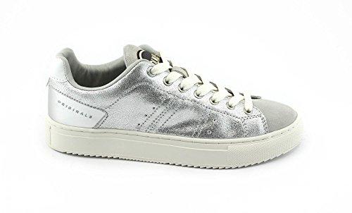 Colmar BRASOU Chaussures Blanches Argent Blanc Espadrilles Argent Lacets