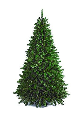 Totò piccinni albero di natale artificiale, 210 cm (1078 rami), molto folto di altissima qualita', effetto realistico, flora, rami a gancio, facile montaggio, pvc, base metallica