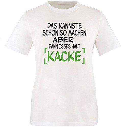 EZYshirt® Das kannste schon so machen aber dann isses halt kacke Herren Rundhals T-Shirt Weiß/ Schwarz/ Grün