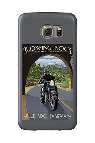 Blowing Rock, North Carolina - Motorcycle and Tunnel (Galaxy S6 Cell Phone Case, Slim Barely There)