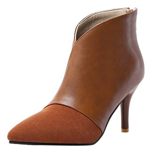 Hombre Zapatillas Botines Mujer Zapatos de Tacón,ZARLLE Sección Delgada Botas,Boots con Cremallera...