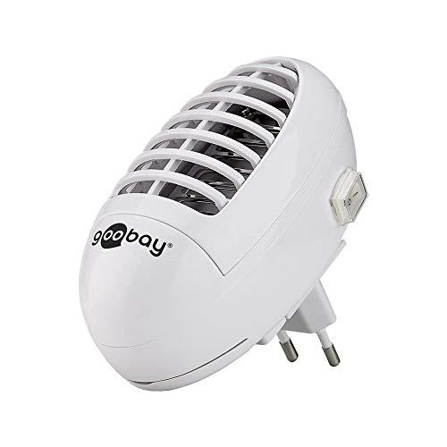 UV LED Insektenvernichter für die Steckdose Schutz vor Mücken, Fliegen, Insekten elektrische Insektenabwehr, Weiß