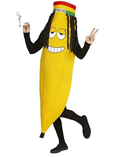 anen Kostüm für Erwachsene bunt Einheitsgröße (Bananen-kostüme)