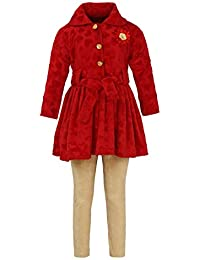 Aarika Girl's Red Coloured Fit & Flare Clothing Set
