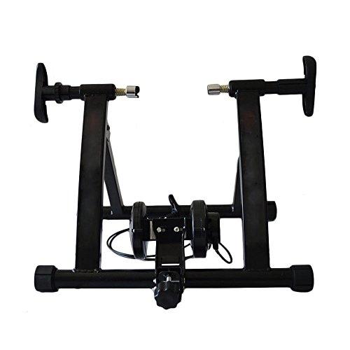 Vogvigo indoor Fahrrad Widerstandstrainer, faltbarer magnetischer Turbo-Trainer Fahrradtrainer Stand Schwarz