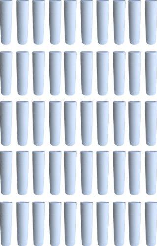 50 Lippenstift-Hülsen weiß, leer, zum Selbstbefüllen - MADE IN GERMANY