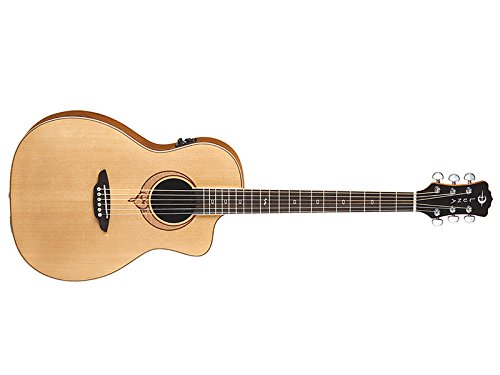 Luna Guitars Heartsong Series Acoustic-Electric Guitar, Parlor