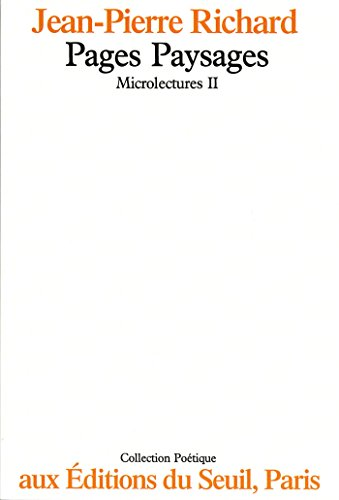 Microlectures. Pages paysages: Pages paysages