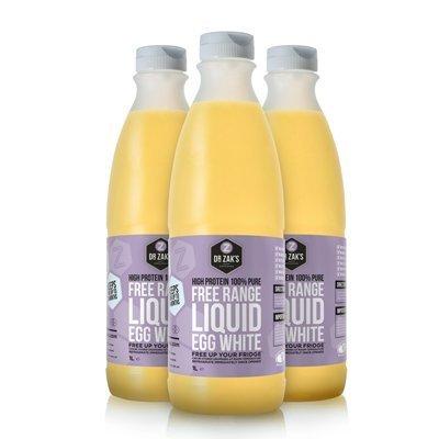 Dr Zaks Free Range Liquid Egg Whites - 970ml x 6 Bottles from Dr Zaks