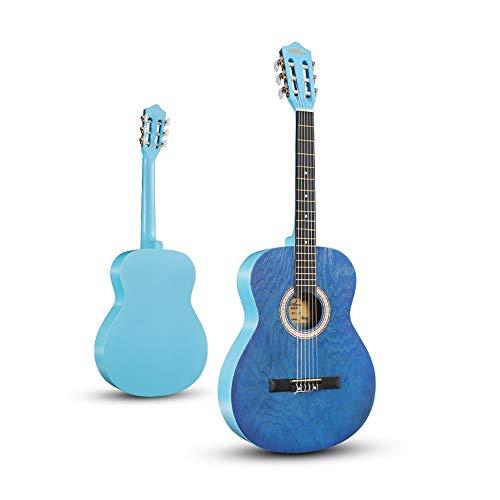Miiliedy Classica serie nostalgica 39 pollici chitarra classica studenti praticano uomini e donne corde in nylon principiante chitarra acustica con borsa stringhe raccoglie panno di lucidatura tracoll