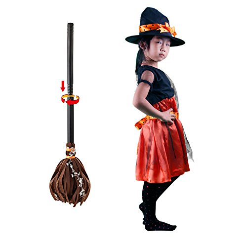 IshowStore Mädchen Hexe Kleinkind Kostüm Fee Halloween Cosplay Party Fancy Kleid, Broomstick Style, Large