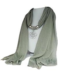 """La Loria bufanda de las mujeres """"Rose"""" pañuelo de moda con el colgante de la bufanda"""