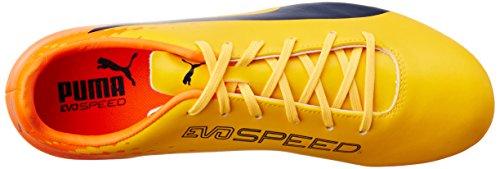 Puma Herren evoSPEED 17.5 FG Fußballschuhe, 46 EU Gelb (ultra yellow-peacoat-orange clown fish 04)
