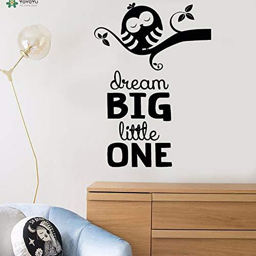 nkfrjz Aufkleber Traum große kleine niedliche Cartoon-Eule auf den Wandaufklebern wandaufkleber kinderzimmer 57X80CM