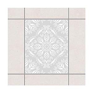 Pattern Design GmbH Fliesen Aufkleber–Rosamunde (Schauspiel) hellgrau 25cm x 20cm, Set-Größe: 10Stück
