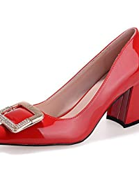 LvYuan-ggx Zapatos de mujer-Tac¨®n Robusto-Tacones-Tacones-Casual-Vell¨®n-Negro / Rojo / Gris / Piel , nude-us6.5-7 / eu37 / uk4.5-5 / cn37 , nude-us6.5-7 / eu37 / uk4.5-5 / cn37