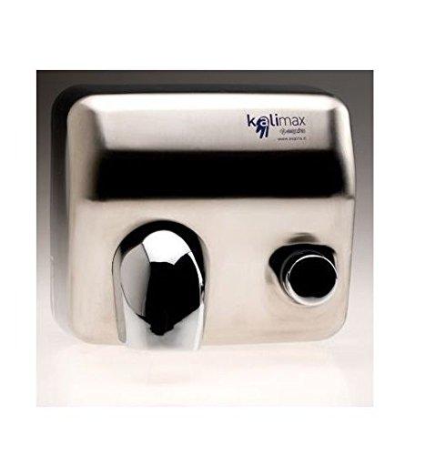 Toalla de baño profesional con botón (acero satinado modelo kalimax 25p-vb